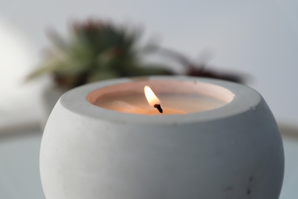Soy Wax Concrete Candle