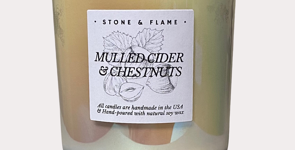 Mulled Cider & Chestnuts - Iridescent Winter Candle - 13oz