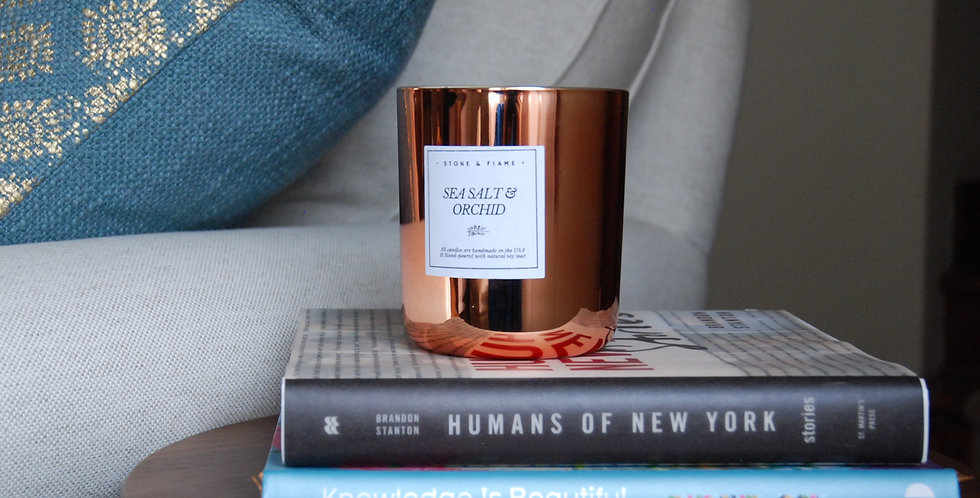 Grapefruit Mangosteen - Copper Soy Wax Candle - 13oz