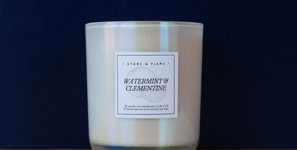 Watermint & Clementine - Iridescent Spring/Summer Candle - 13oz