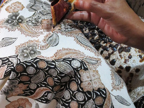 Studies at Batik workshop in Cirebon, Indonesia