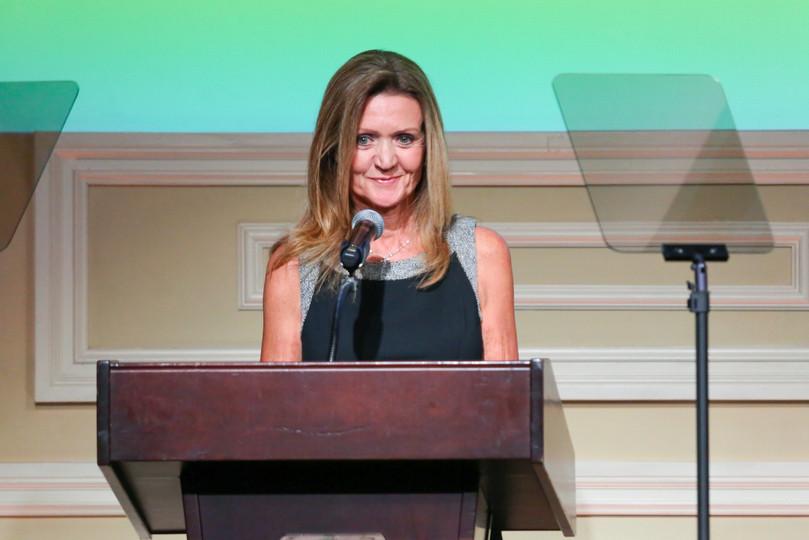 Cindy Osbrink accepting the 2019 Lifetime Achievement - Talent Agent Award