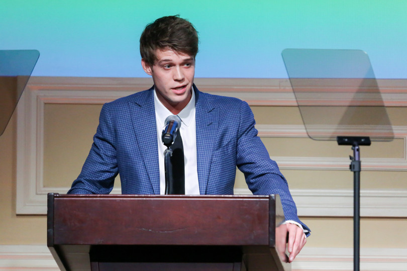 Colin Ford presenting the 2019 Lifetime Achievement - Talent Agent Award