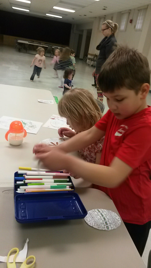 Colouring and dance party