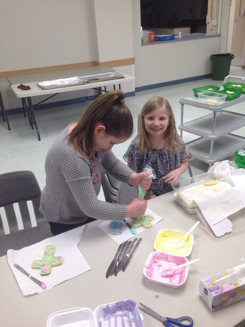 Easter cookie decorating 2018