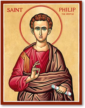 The icon of St. Philip