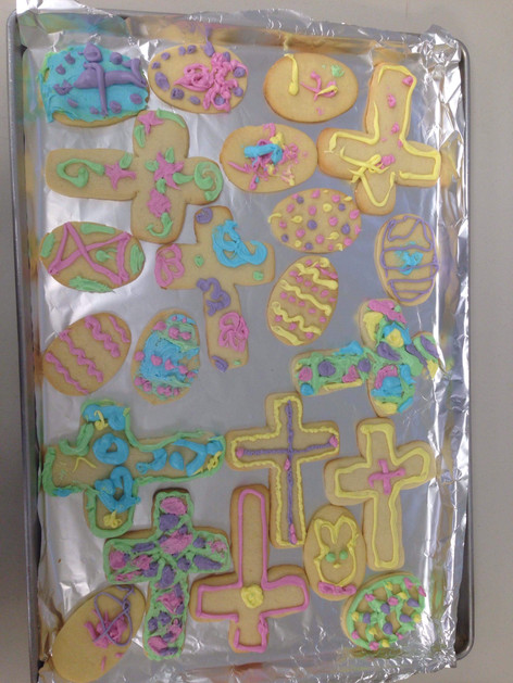Easter cookie decorating 2018 - Finished product!