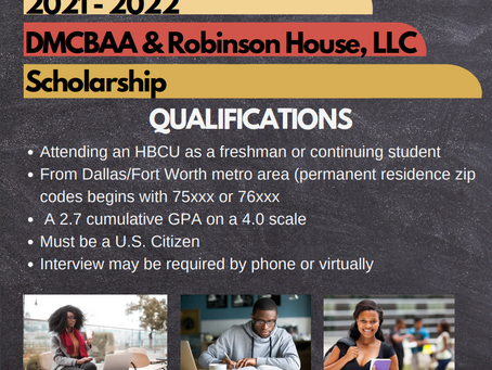 DMCBAA & Robinson House, LLC Annual HBCU Scholarship