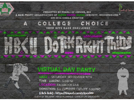 HBCU Do The Right Thing Virtual Day Party Fundraiser