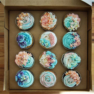 These hen party cupcakes were made for a
