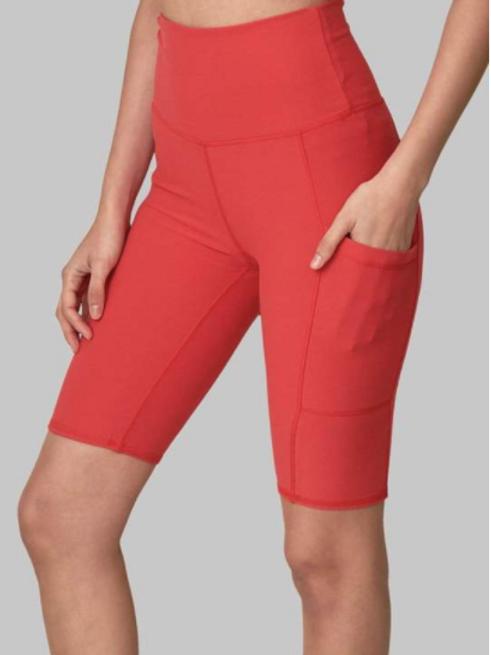 Wolven Pocket Bike Shorts - Cayenne