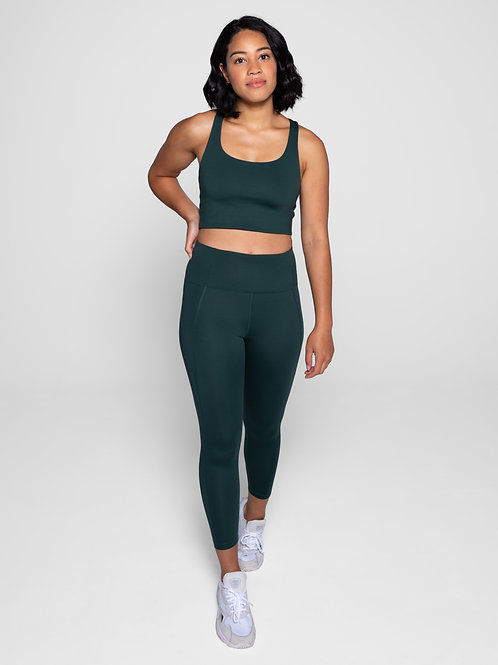 Girlfriend High-Rise Pocket Leggings - Moss