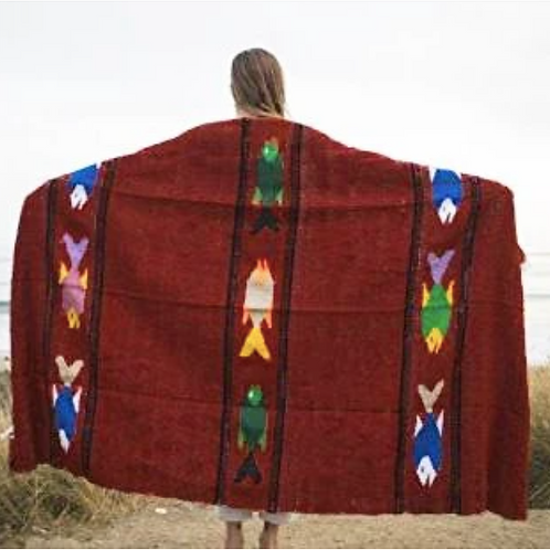 Yoga Blanket - Baja Fish