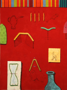 2009 200 x 150 cm Acrylic on canvas and cloth