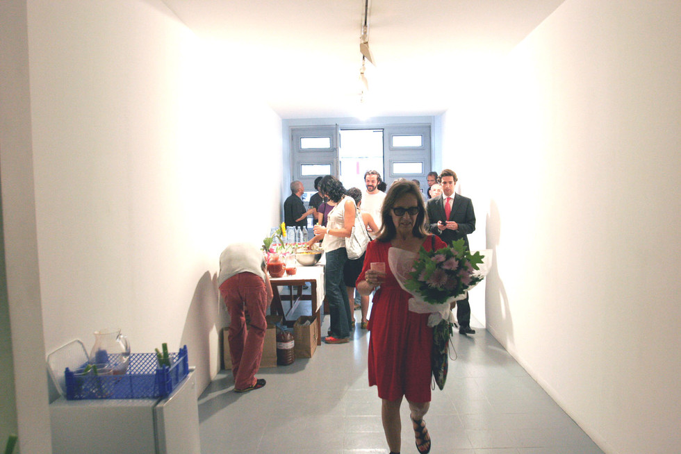 Ana Jotta at an exhibition opening