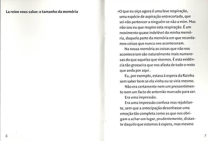 Catalogue La reine vous salue..., Jorge Molder, Sala do Veado