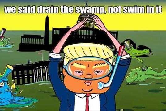 So about that promise to drain the swamp