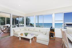 White lounge view