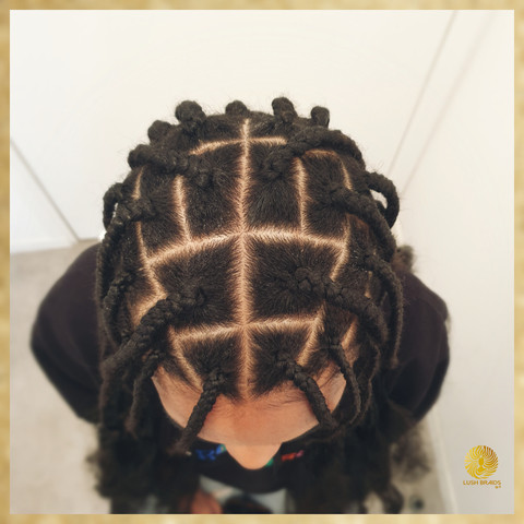knotless braids with wide parts