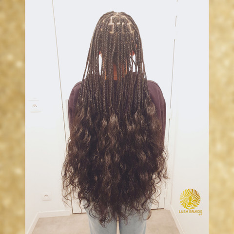 knotless goddess box braids
