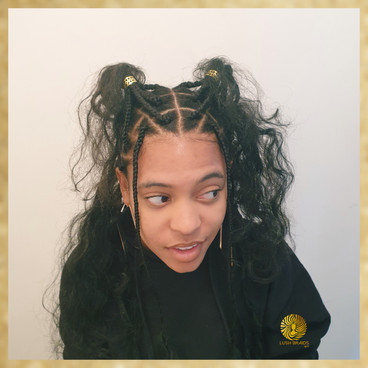long knotless goddess box braids with wide parts