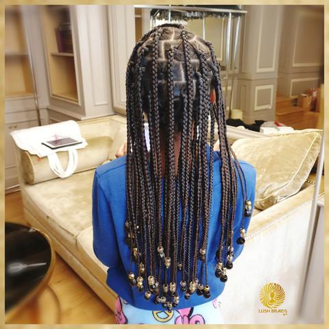 natural box braids