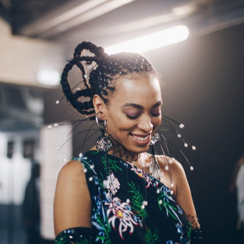 Assisted Hair by Susy to complete this look for Solange Knowles for Kenzo Paris fashion show SS20