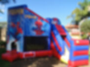 spiderman-with-slide-jumping-castle-hire