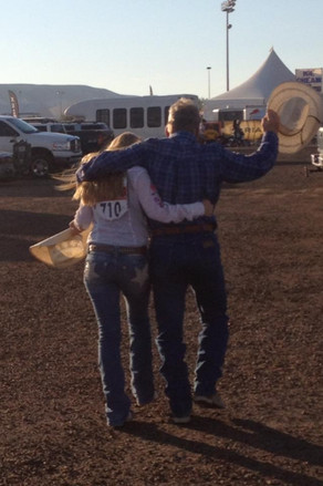 Keith and Shelby at the National High School Rodeo finals