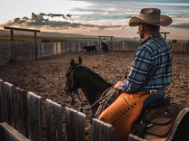 Keith in his round pen at the ranch