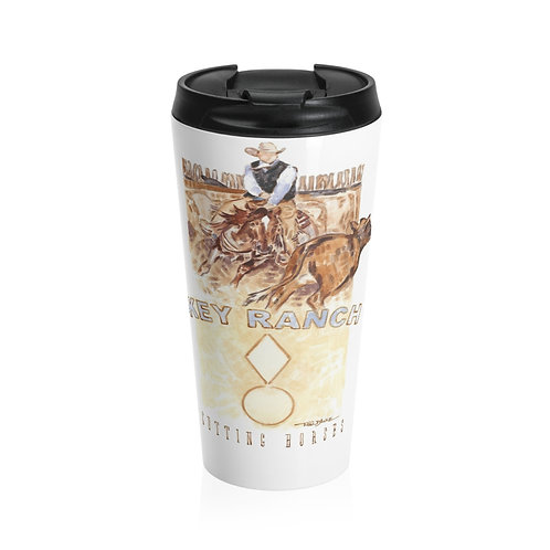 The Key Ranch Cutting Horses Stainless Steel Travel Mug