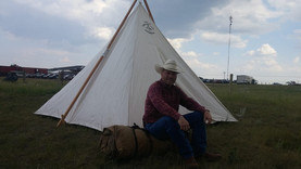 Keith camping out in Pollockville