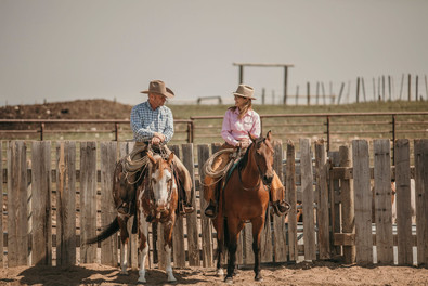 Keith and Denice at the ranch