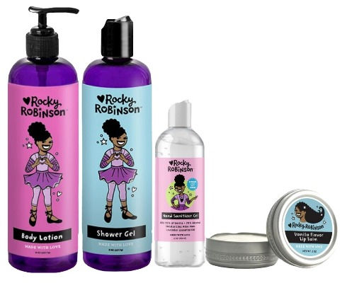 Gift Set with Body Lotion Shower Gel Hand Sanitizer and lip balm