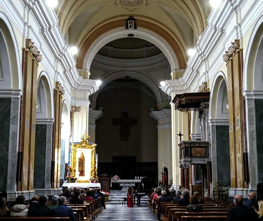 Solo concert at Crotone Cathedral, Italy