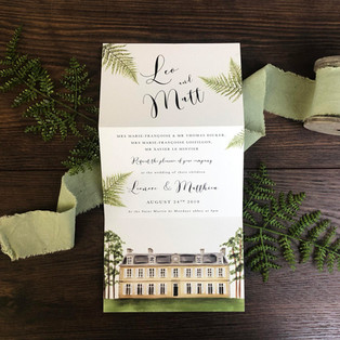 Bespoke wedding invitation Leo and Matt
