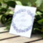 Bespoke wedding stationery table names