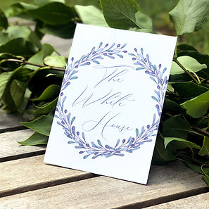 Bespoke wedding stationery table names