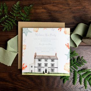 Bespoke wedding stationery hen party invitation