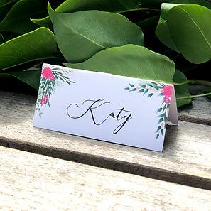 Bespoke wedding stationery place names