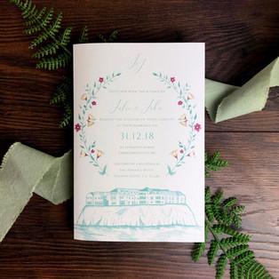 Bespoke wedding invitation Julie Lynch