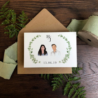 Bespoke wedding invitation Hannah Peacey