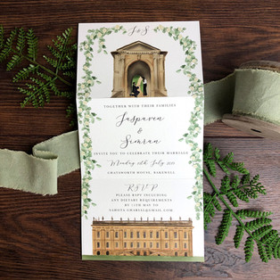 Bespoke wedding invitation Jaspaven