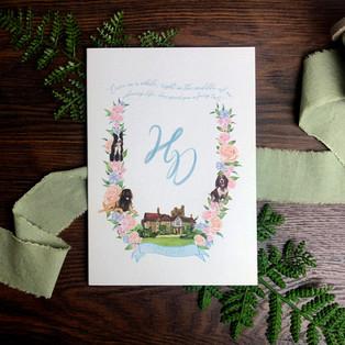 Bespoke wedding invitation Henrietta