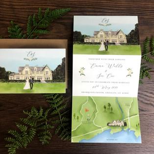 Bespoke wedding invitation Emma Wells