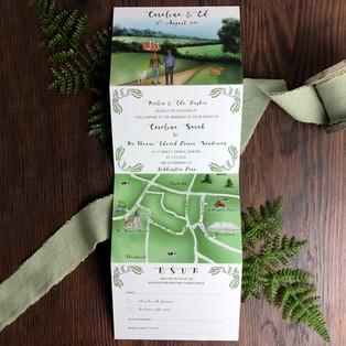 Bespoke wedding stationery Caroline and Ed