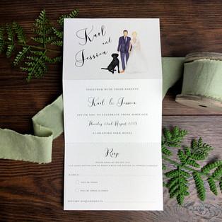 Bespoke wedding invitation Karl Hull