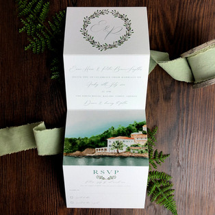 Bespoke wedding invitation Emma Harris