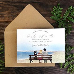 Bespoke wedding invitation Amy Meadows