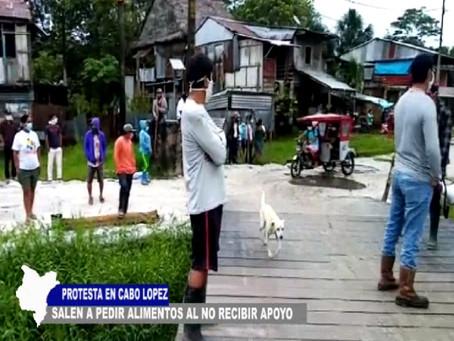 PROTESTAN EN CABO LÓPEZ VECINOS SALEN A PEDIR ALIMENTOS AL NO RECIBIR APOYO